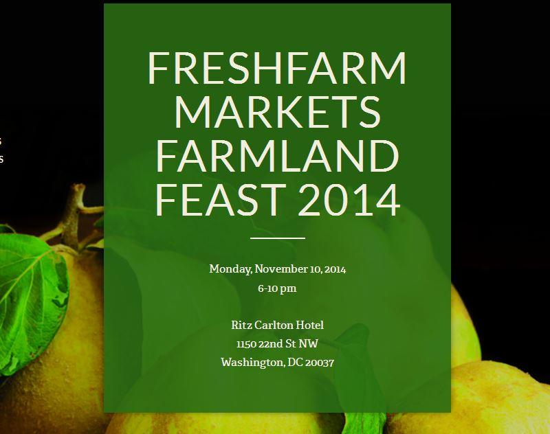 Freshfarm Markets 2014 Farmland Feast Poster