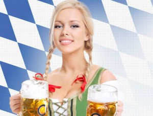 Oktoberfest beer wench girl