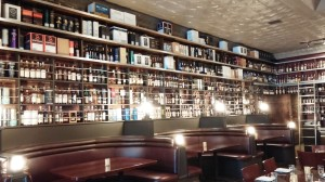 Jack Rose whiskey wall