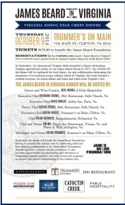 James Beard in Virginia Rising Star Dinner