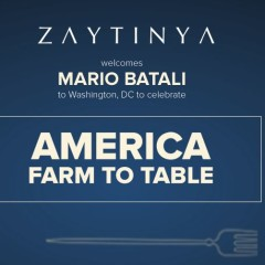 New Cookbooks & Release Parties in D.C.: Mario Batali at Zaytinya & 3 more