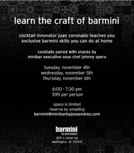 barmini cocktails poster