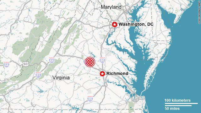 Washington, D.C., shaken by 5.9-magnitude earthquake in Virginia