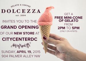 dolcezza free gelato poster