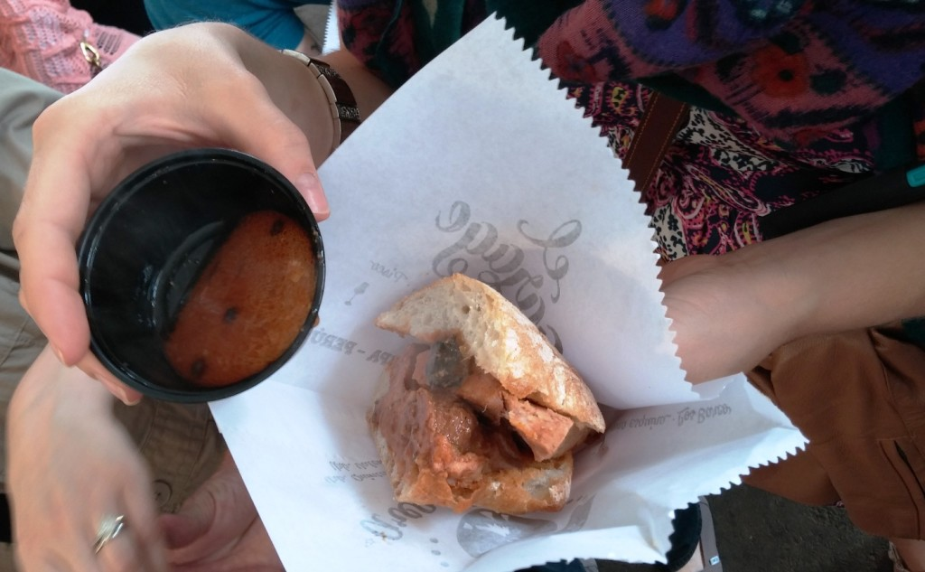 Mistura 2015 - Pork stew sandwich El Garage