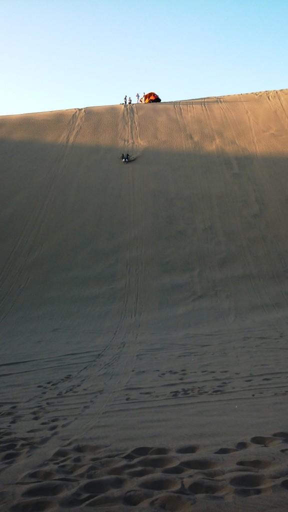 Huacachina Sand Dunes - sand boarding