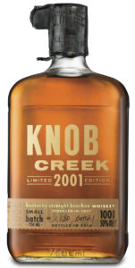 Knob Creek 2001 bottle