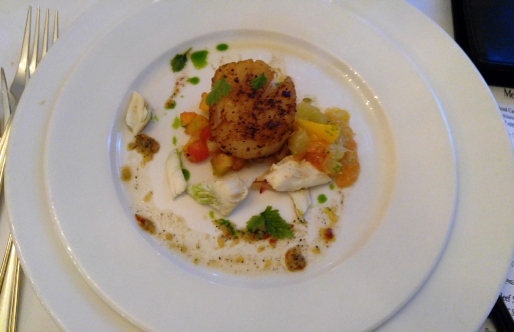 Commander's Palace dinner - Scallops