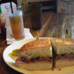 Napoleon House muffuletta & pimms cup