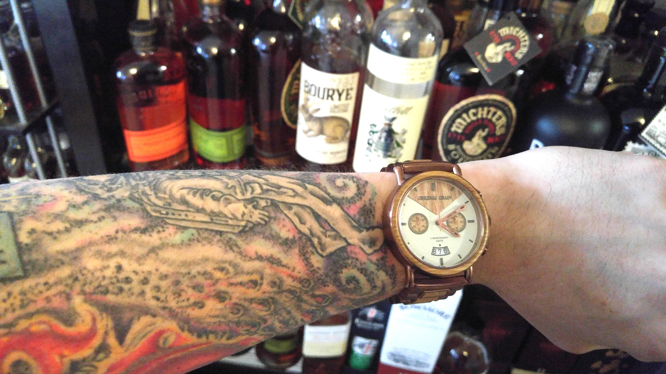 made actual barrels grain photo maxim whiskey style from watches badass are chrono original these barrel