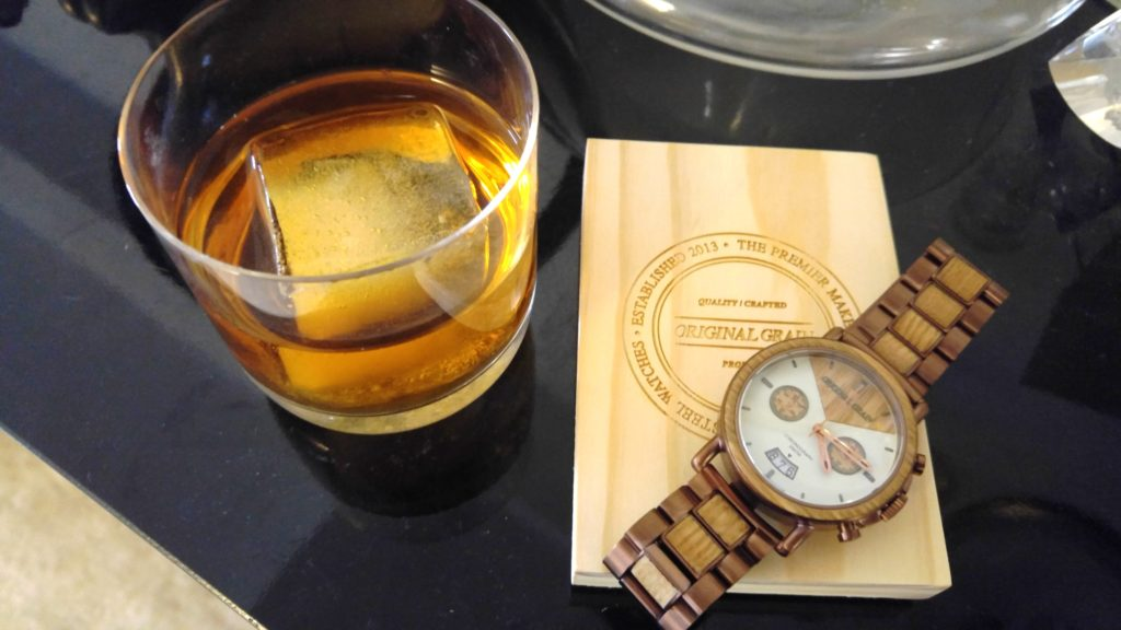 features the whiskey crafted american inspired sale codes watch pin barrel wood reclaimed now pre on brushed barrels oak dress from watches and